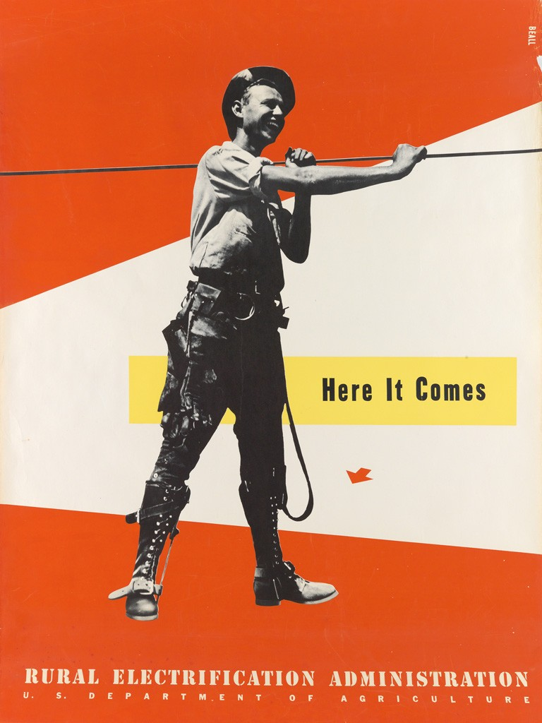 Lester Beall, Here It Comes / Rural Electrification Administration