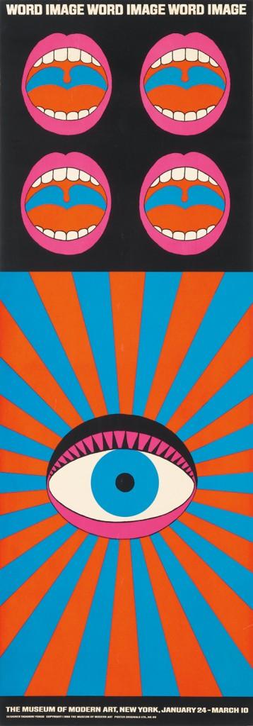Lot 462: Tadanori Yokoo, Word Image, 1968. Estimate $4,000 to $6,000.