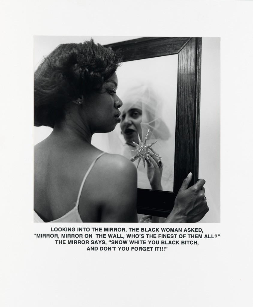 Lot 142: Carrie Mae Weems, Mirror, Mirror gelatin silver print, 1987, printed 2008. Estimate $25,000 to $35,000.