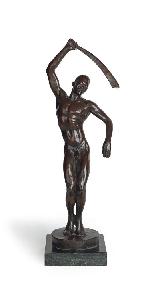 Lot 80: Richmond Barthé (after), Feral Benga, cast bronze, circa 1960s. Estimate $8,000 to $12,000.