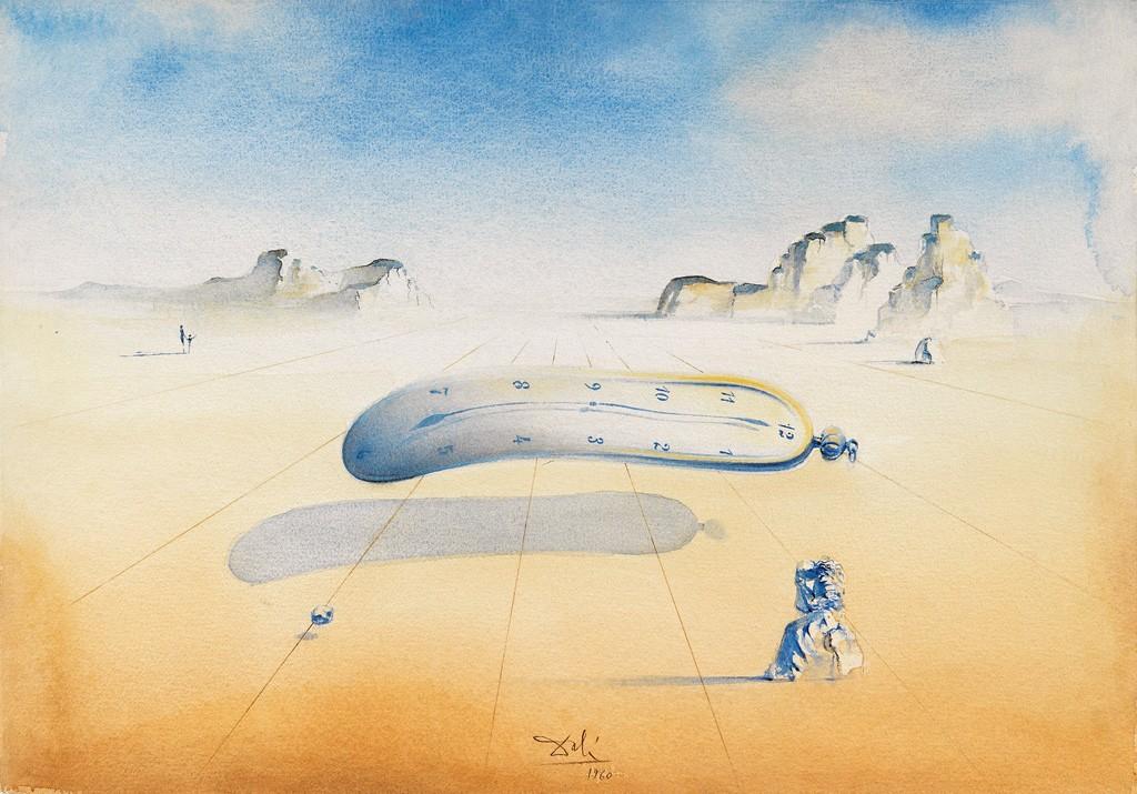 Lot 517: Salvador Dalií, Orologi, Molli, watercolor, 1960. Sold March 2, 2017 for $112,500.