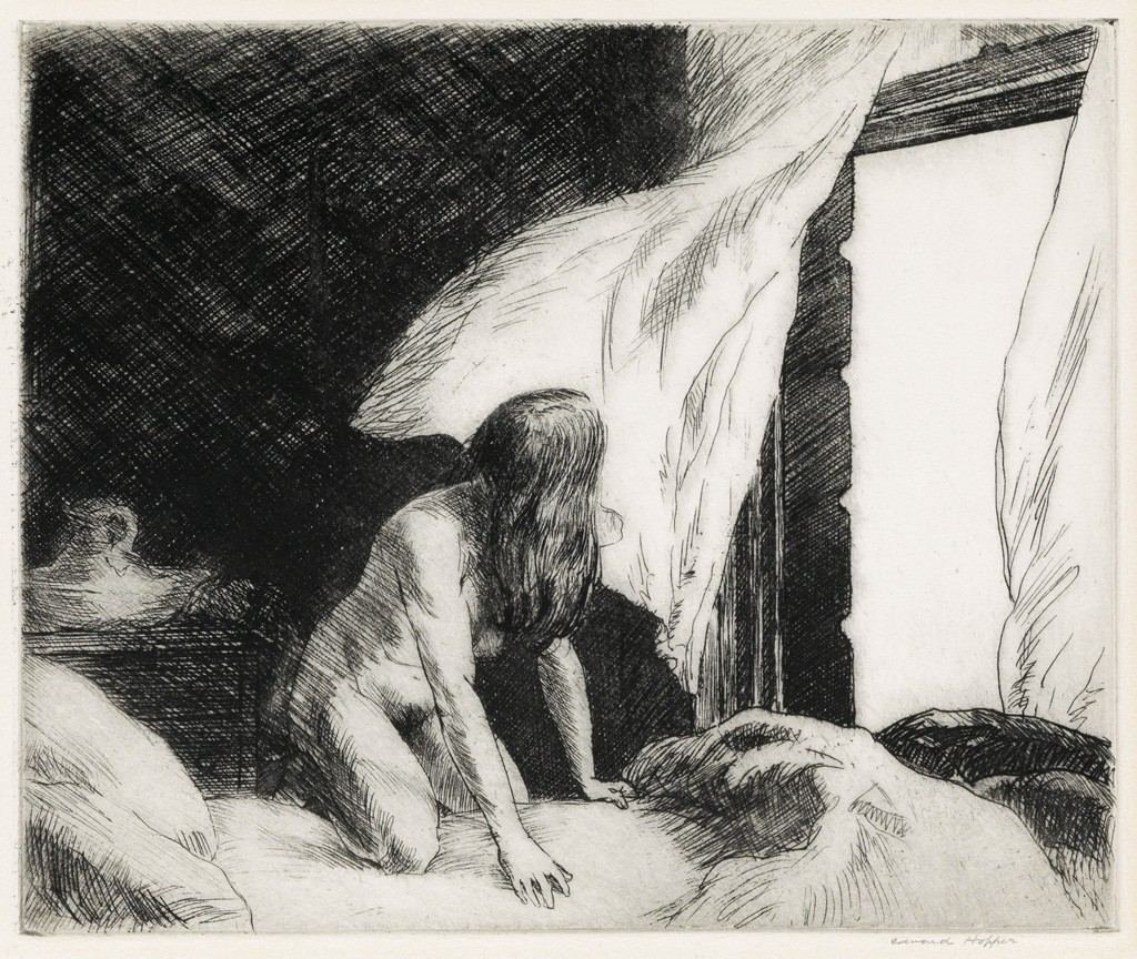 Lot 230: Edward Hopper, Evening Wind, etching, 1921. Sold March 2, 2017 for $149,000.