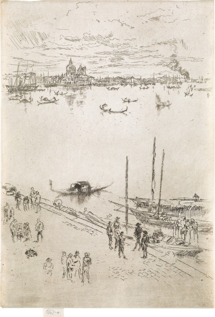 Lot 96: James A.M. Whistler, Upright Venice, etching and drypoint, circa 1879-80. Sold March 2, 2017 for $70,000.