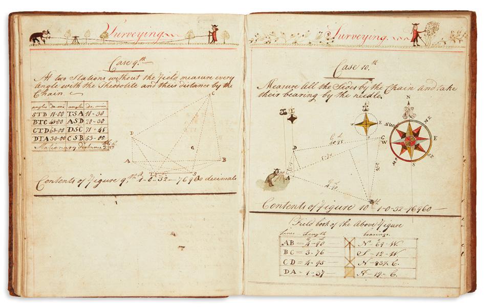 Lot 279: William Greene, manuscript ciphering book, Cambridge, MA, 1783-84. Estimate $800 to $1,200.