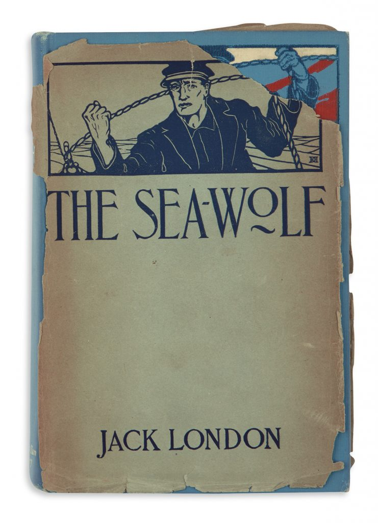 Lot 200, cover of Jack London's The Sea-Wolf in rare dust jacket.
