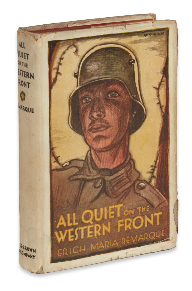Lot 234, Erich Maria Remarque's book All Quiet on the Western Front, cover image.