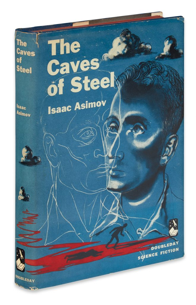 Lot 3, cover of The Caves of Steel by Isaac Asimov.