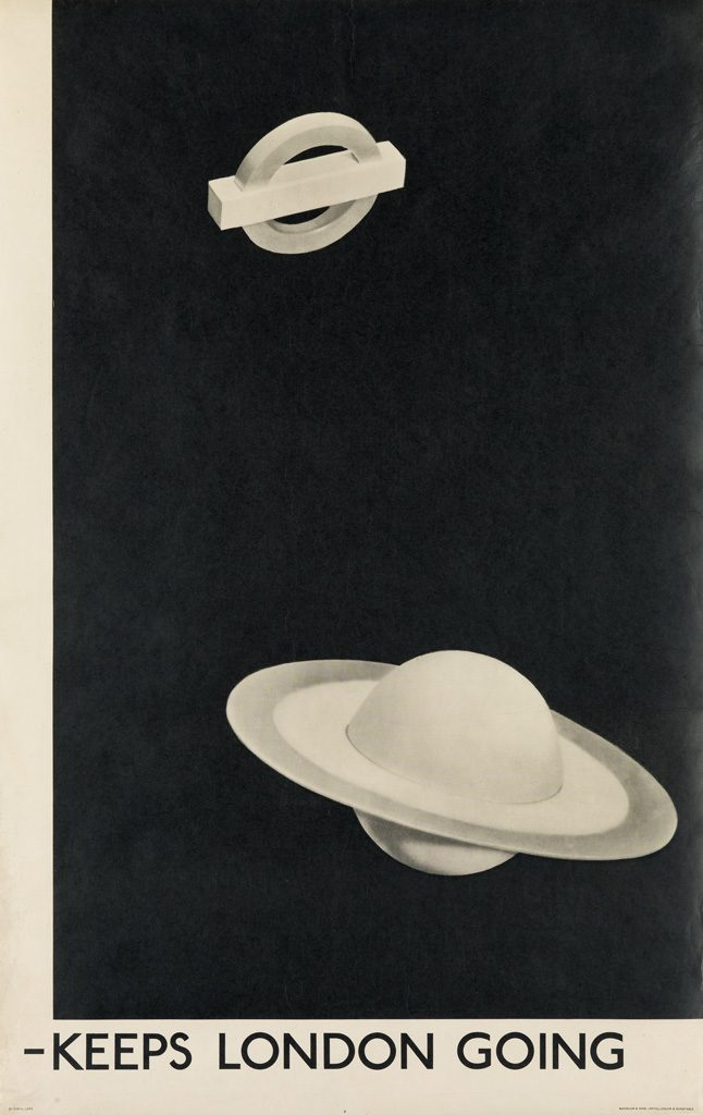 Black and white poster for the London Tube by Man Ray