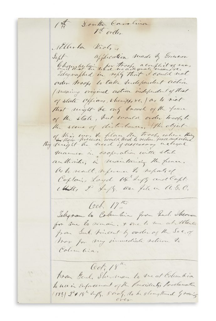 Letter from Rutherford B. Hayes