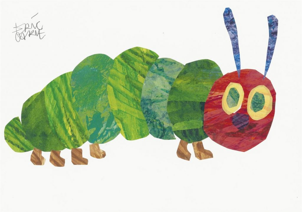 The titular character from Eric Carle's The Very Hungry Caterpillar.