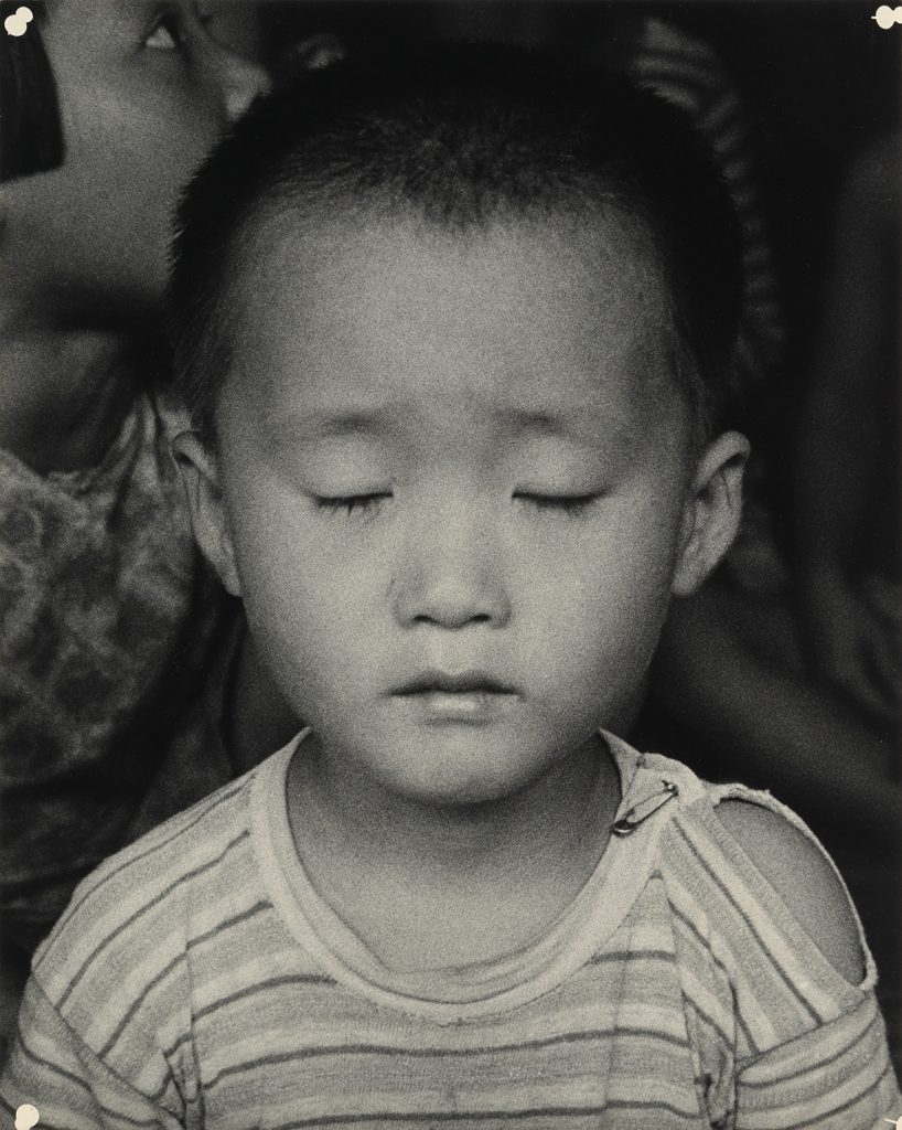 Image of a small Korean child by Dorothea Lange
