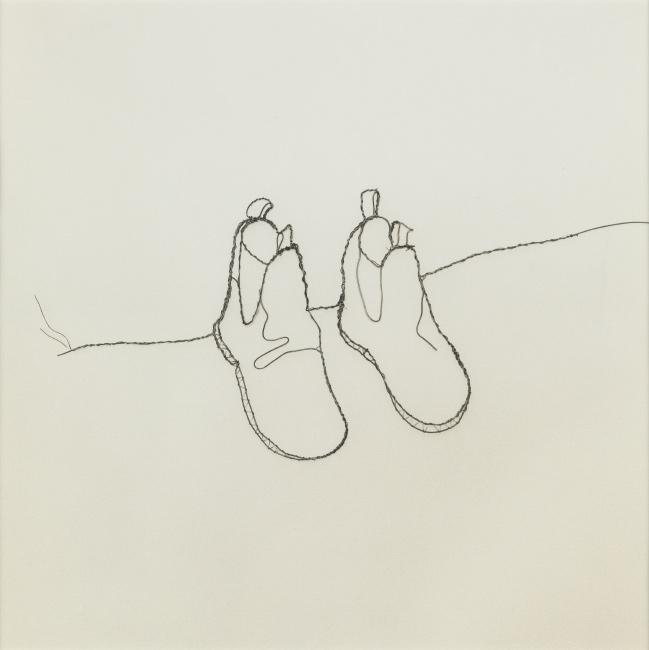 Vik Muniz, Shoes, selenium-toned silver print,