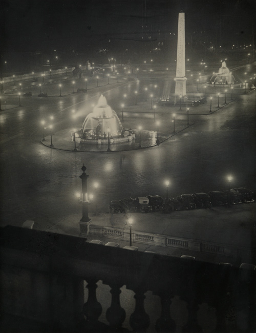 Brassaï, Place de la Concorde, ferrotyped silver print, circa 1932,