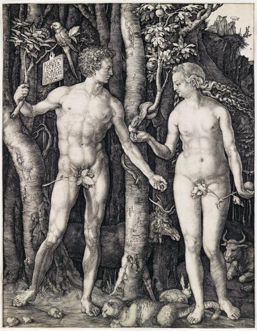 Albrecht Dürer, Adam and Eve, engraving, 1504. $80,000 to $120,000.