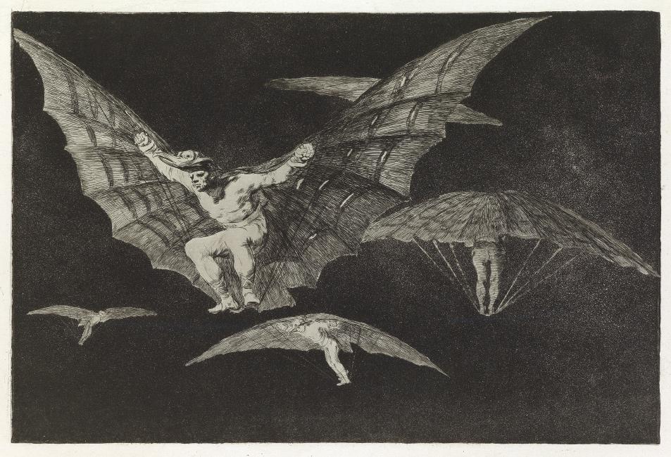 Francisco José de Goya, Modo de Volar, aquatint and etching, circa 1824. $10,000 to $15,000.