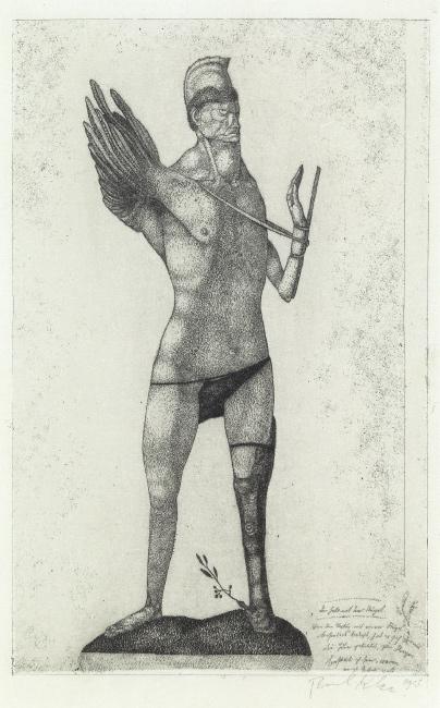 Paul Klee, Der Held mit dem Flügel, etching, 1905. $70,000 to $100,000.