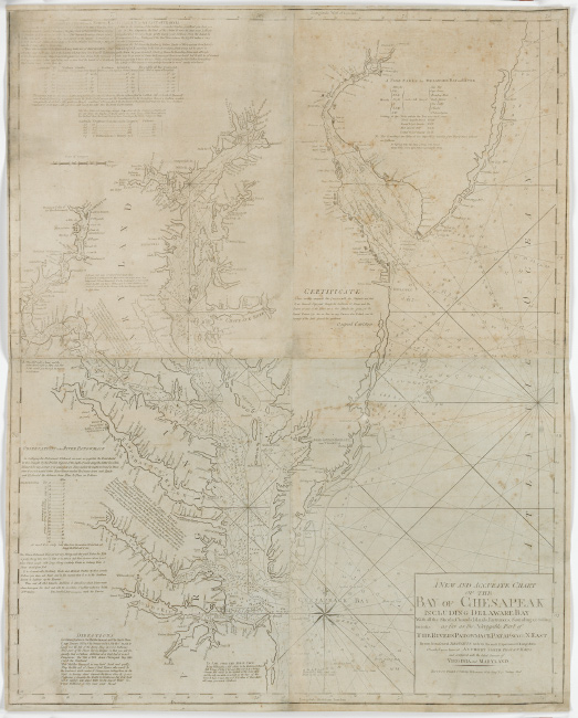 John and William Norman, A New and Accurate Chart of the Bay of Chesapeak, Boston, circa 1803.