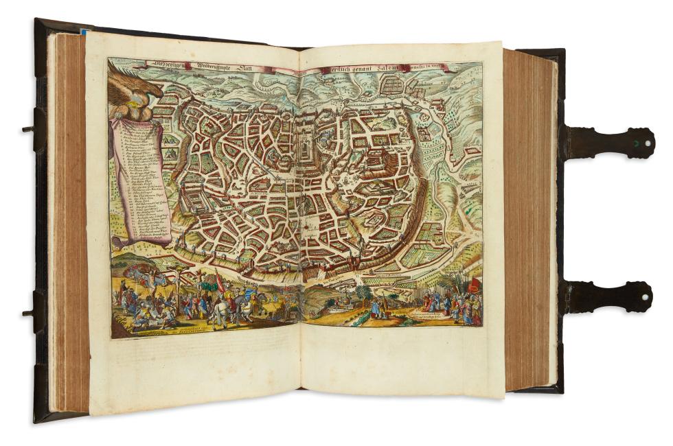 Biblia Das ist: Die Gantze Heilige Schrifft Durch D. Martin Luther Verteutscht, illustrated cartographic Bible, Basel, 1665.