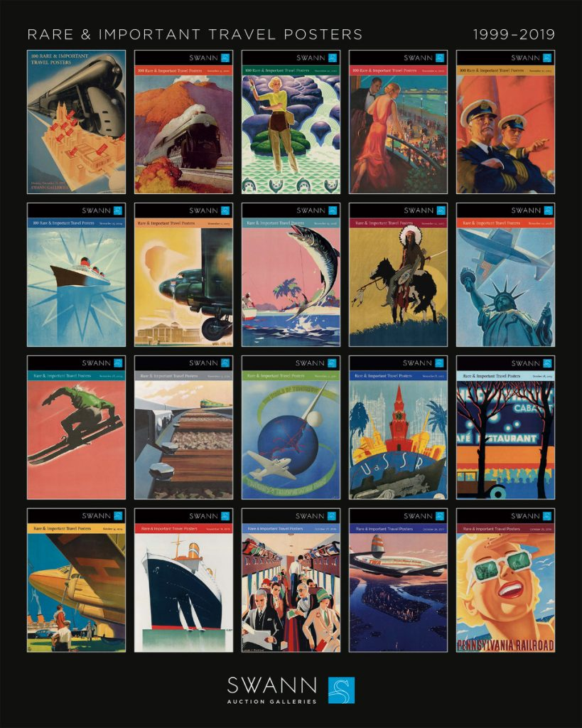 Image of Travel Poster catalogues.