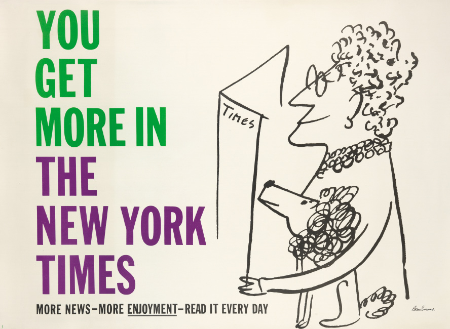 Ludwig Bemelmans, You Get More in The New York Times, 1950s.