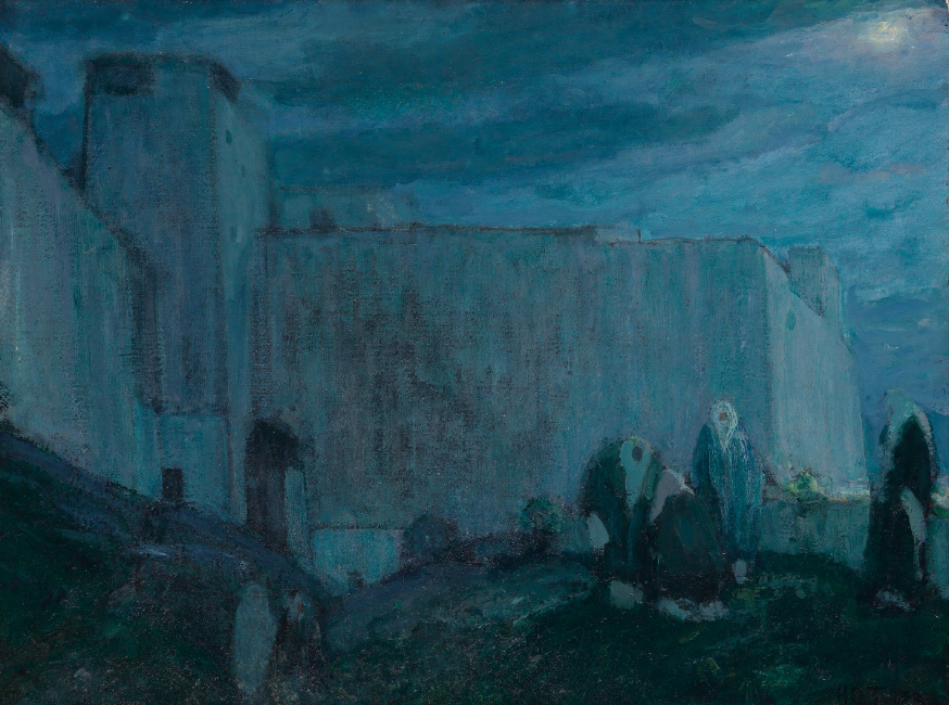 Henry Ossawa Tanner, Moonrise by Kasbah, oil on canvas, 1912. $150,000 to $250,000.