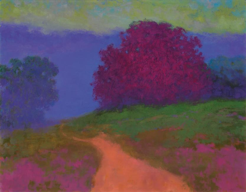 Richard Mayhew, Departure, oil on canvas, 2006.