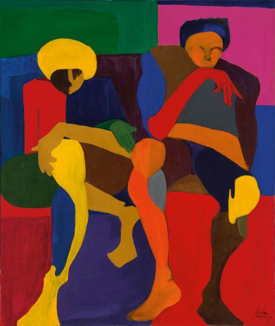 Dindga McCannon, The Last Farewell, oil on canvas, 1970.