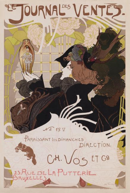 Lot 51: Georges de Feure, Le Journal des Ventes, 1898.