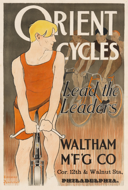 Edward Penfield, Orient Cycles / Lead the Leaders, circa 1895.