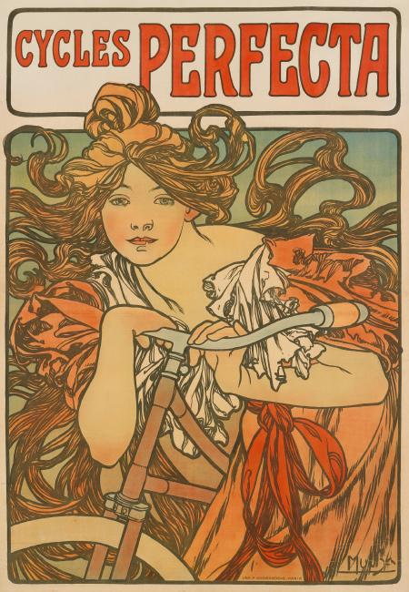 Alphonse Mucha, Cycles Perfecta, 1897.