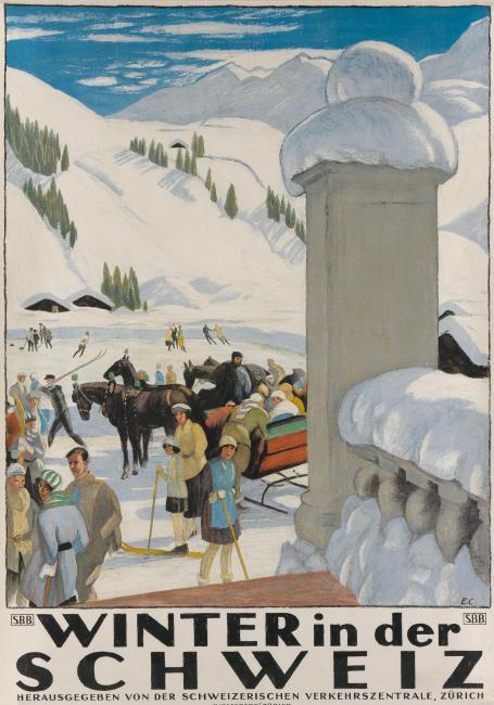 Emil Cardinaux, Winter in der Schweiz, 1921.