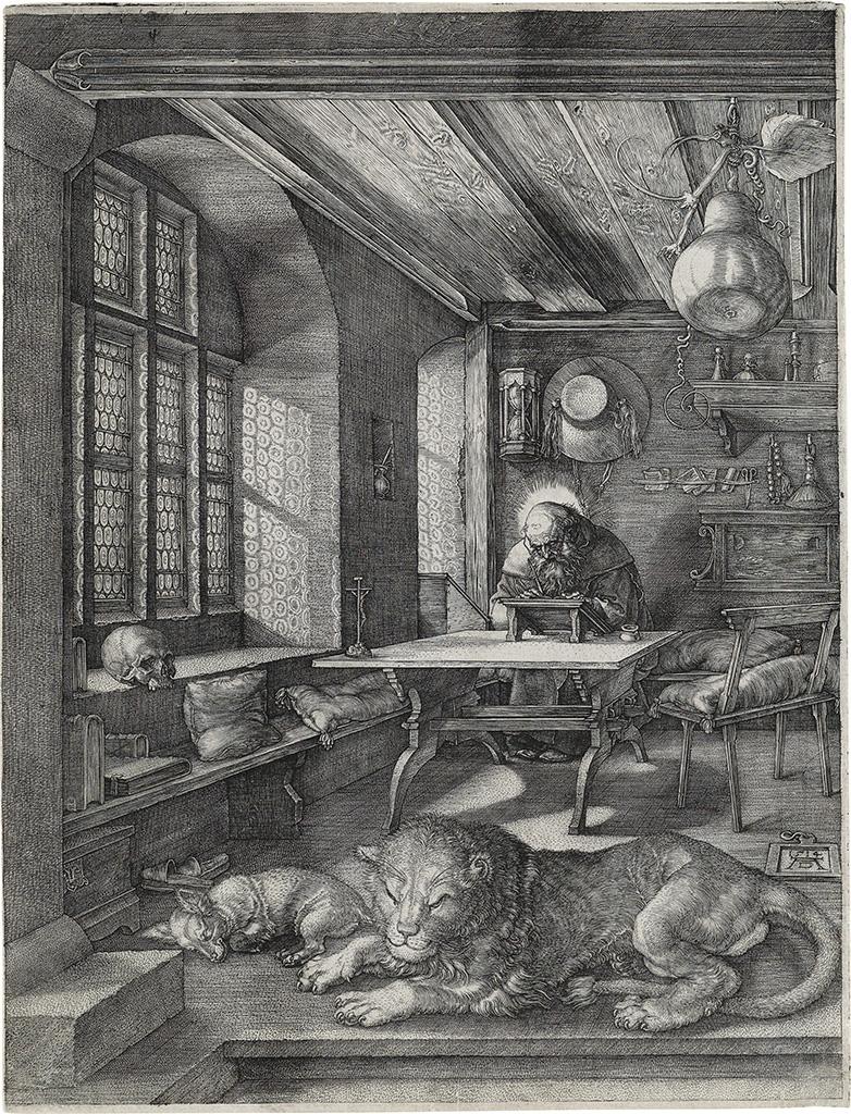 Albrecht Dürer, St. Jerome in his Study, engraving, 1514.