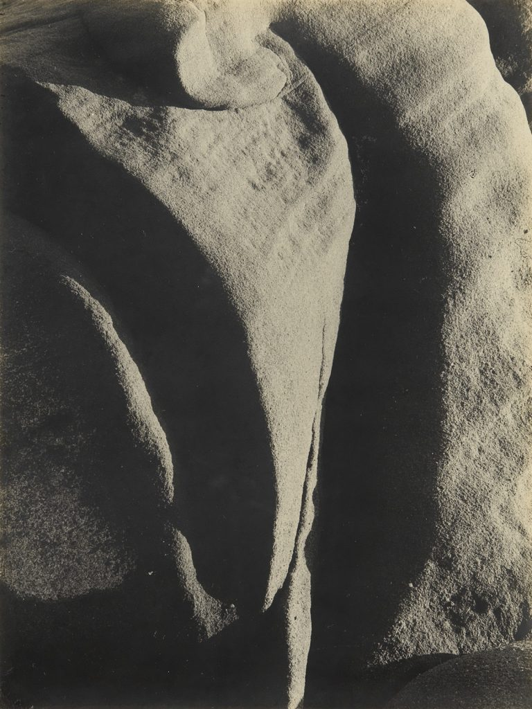 Brett Weston, Abstraction of Rocks, silver print, 1929.