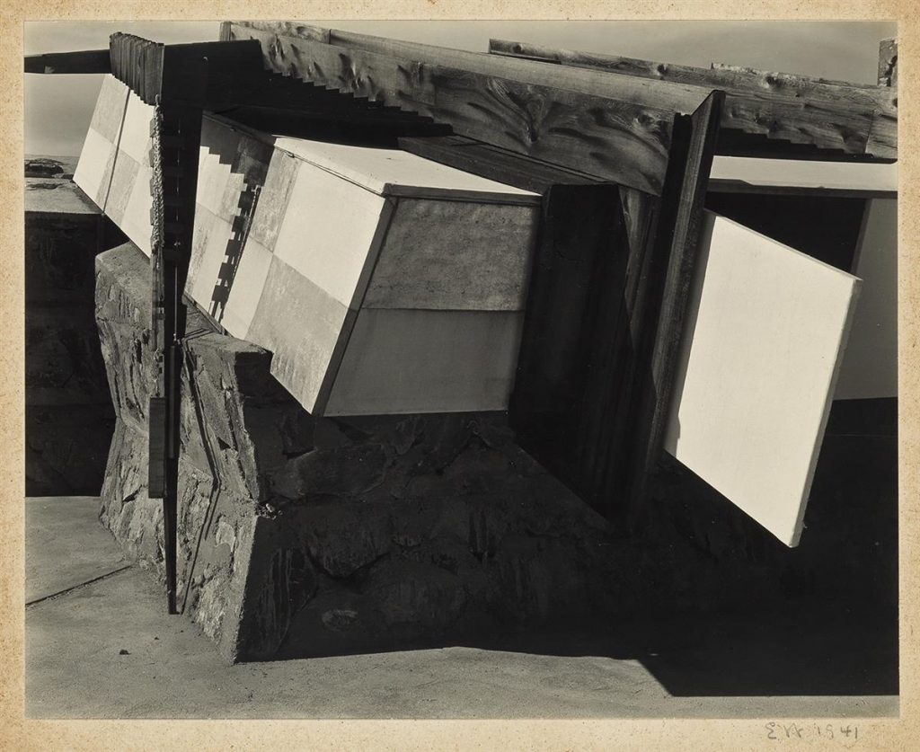 Edward Weston, Taliesin West, Phoenix Arizona (Frank Lloyd Wright's Studio), silver print, 1941.
